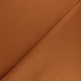 Tissu Mind the Maker jersey matelassé chevron - gris foncé x 10 cm