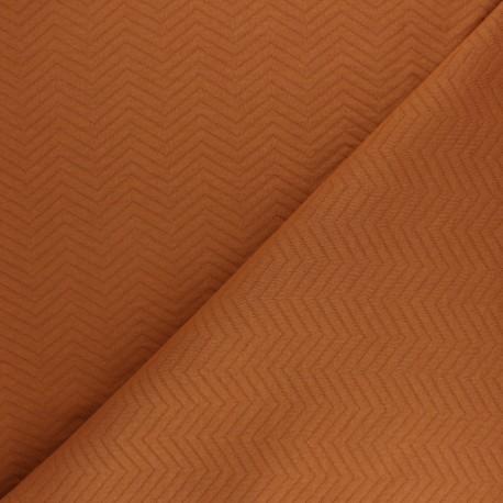 Herringbone Quilted jersey fabric - dark grey x 10 cm