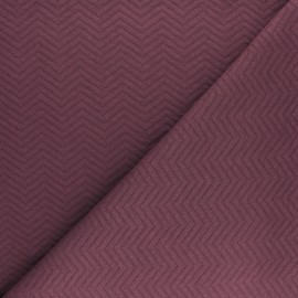 Herringbone Quilted jersey fabric - burgundy x 10 cm