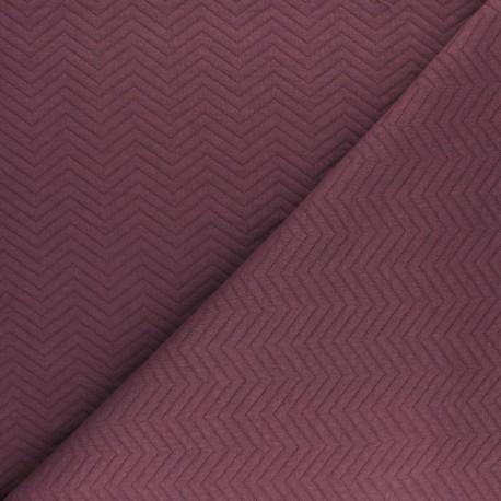 Herringbone Quilted jersey fabric - rust x 10 cm