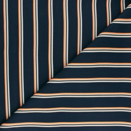 Twill viscose fabric - Navy blue Minileo x 10 cm