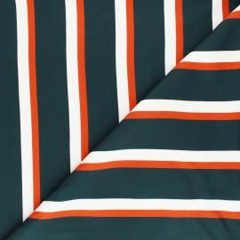 Tissu Mind the Maker twill viscose Lines Flow - paon x 10 cm
