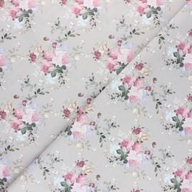 Tissu coton cretonne Jolie Emilie - Blanc x 10cm