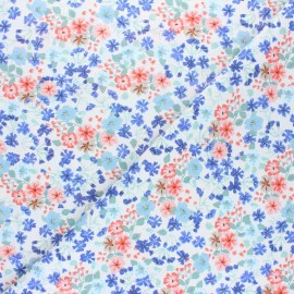 Cretonne cotton fabric - pink Herbory x 10cm