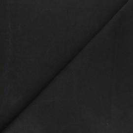 Tissu toile de coton demi natté Sequoia - Noir x 10cm