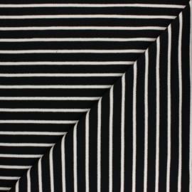 Tissu Sweat léger Rayé Thabor - noir x 10cm