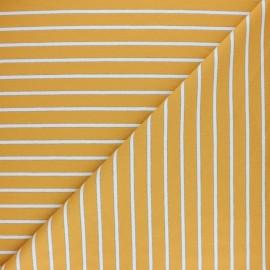 Tissu Sweat léger Rayé Thabor - jaune x 10cm