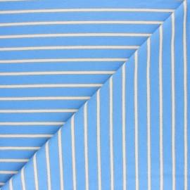 Tissu Sweat léger Rayé Thabor - bleu x 10cm