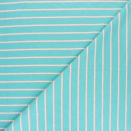 Tissu Sweat léger Rayé Thabor -  turquoise x 10cm