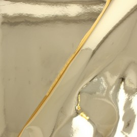 Simili cuir Miroir Fame - Doré x 10cm
