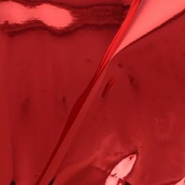 Simili cuir Miroir Fame - Rouge x 10cm