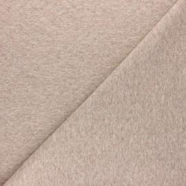 Tissu jersey matelassé losanges 10/20 - Beige chiné x 10cm