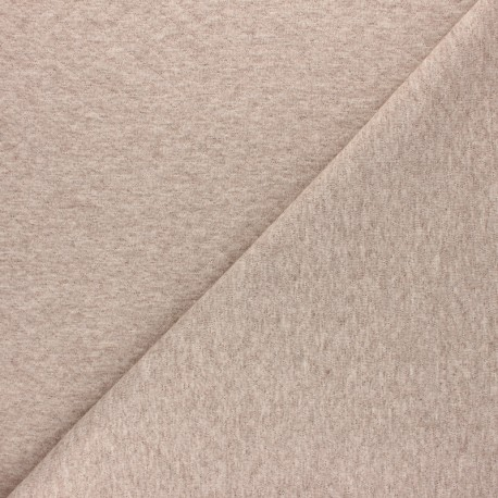 Quilted jersey fabric Diamonds 10/20 - Mottled beige x 10cm