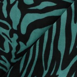 Tissu Doudou Crazy Zebra - Marron x 10 cm