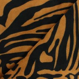 Tissu Doudou Crazy Zebra - Turquoise x 10 cm