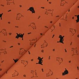 Tissu jersey Felix et Nathacha - moutarde x 10cm