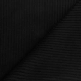 Tissu velours à grosses côtes noir x10cm