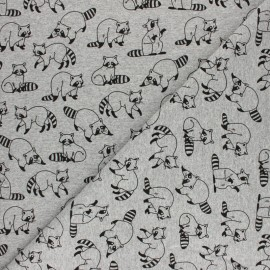 French terry fabric - mottled grey Black Beetle x 10cm