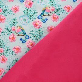 Tissu Softshell Flower day - Gris x 10cm