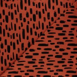 Tissu jersey Punto - tomette x 10cm
