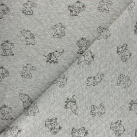 Tissu jersey matelassé losanges 10/15 Elepho - gris x 10cm