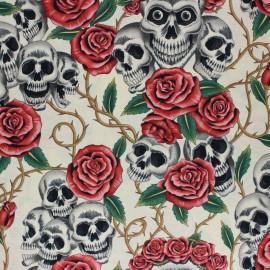 Alexander Henry fabric - Beige Rose Tattoo x 10cm