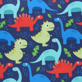 Tissu coton Blend fabrics Dino-mite - bleu x 10cm