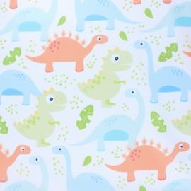 Tissu coton Blend fabrics Dino-mite - blanc x 10cm