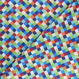 Tissu coton Blend fabrics Dino-mite Mosaic - blanc x 10cm