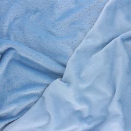 Nicky Fleece fabric Doto - azure x 10cm