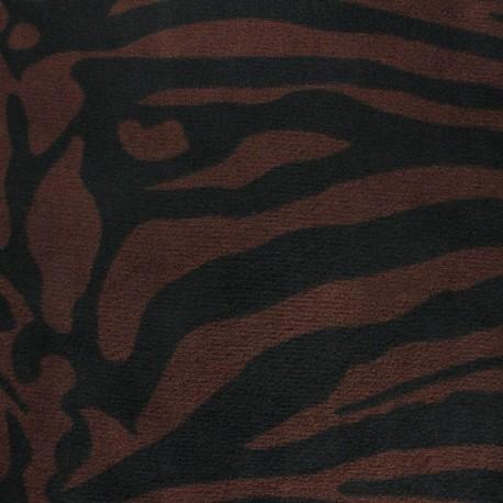 Tissu Doudou Crazy Zebra -  x 10 cm