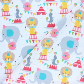 Blend Fabrics Cotton Fabric - white Circus Picadilly x 10cm