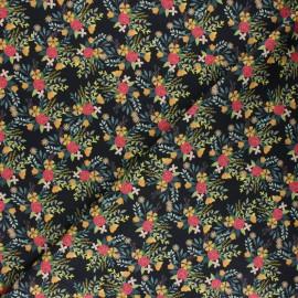 Tissu coton Blend fabrics - Birdie - Floral - noir x 10 cm