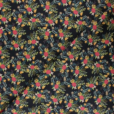 Blend Fabrics Cotton Fabric - red Floral x 10 cm