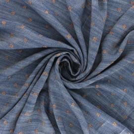 Tissu viscose chambray Lurex Soleillo - cuivre x 10cm