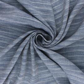Lurex Viscose Chambray fabric - silver Orizzonte x 10cm