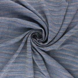 Lurex Viscose Chambray fabric - copper Orizzonte x 10cm