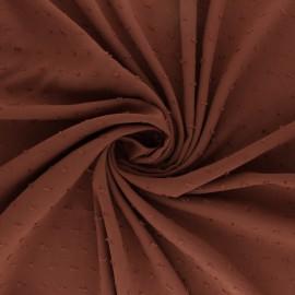 Tissu Viscose plumetis Félicie - rouille x 10cm