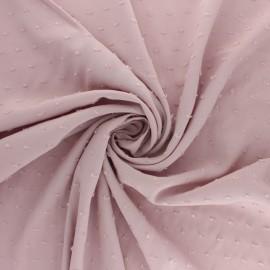 Plumetis Viscose fabric - dusty pink Félicie x 10cm
