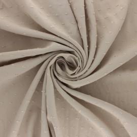 Tissu Viscose plumetis Félicie - sable x 10cm