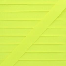 20 mm Silk Effect Grosgrain Ribbon - Neon Yellow x 1m
