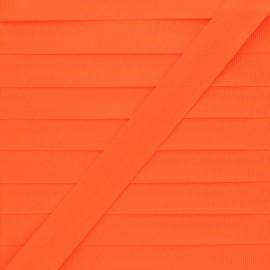 Ruban Gros Grain Effet Soie 10 mm- Orange Fluo x 1m