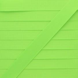 Ruban Gros Grain Effet Soie 15 mm- Vert Fluo x 1m