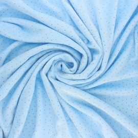 Tissu Doudou Ultra Doux Doto - bleu x 10cm