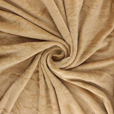 Nicky Fleece fabric Doto - chestnut x 10cm