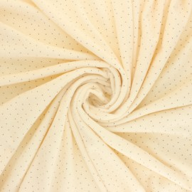 Tissu Doudou Ultra Doux Doto - écru x 10cm