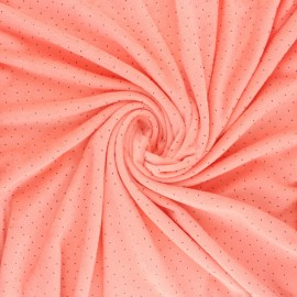 Nicky Fleece fabric Doto - coral x 10cm