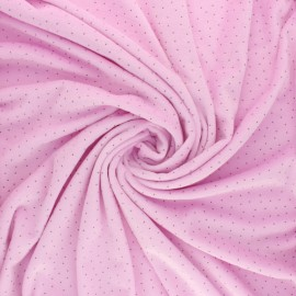 Nicky Fleece fabric Doto - lilac x 10cm