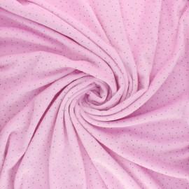Nicky Fleece fabric Doto - lilac x 10cm
