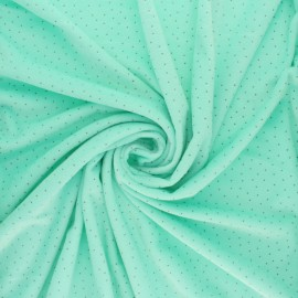 Nicky Fleece fabric Doto - mint x 10cm
